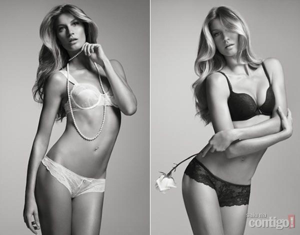 Top Gisele Bündchen publica fotos da nova coleção de lingeries