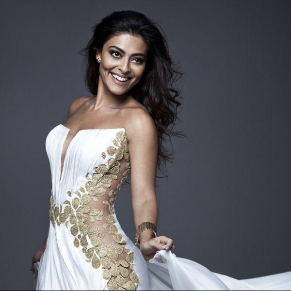 Com vestido ousado, Juliana Paes estrela campanha de estilista