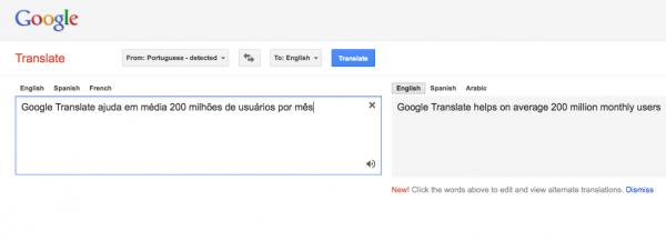 Google Translate ajuda em média 200 milhões de usuários por mês