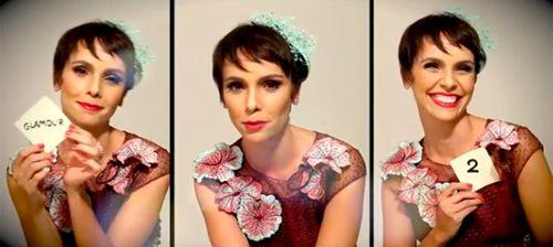 Atriz Débora Falabella posa de menino para Revista Glamour