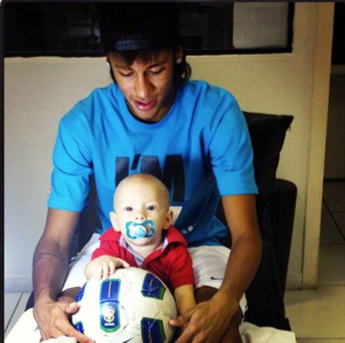 Neymar sobre foto:
