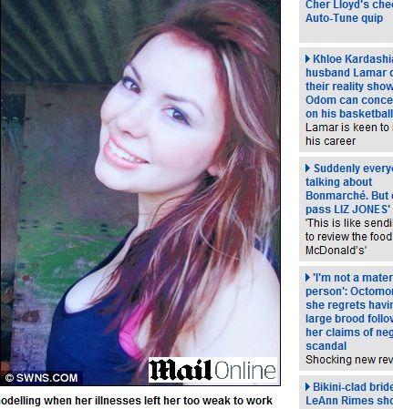 Modelo anoréxica morre aos 19 anos durante o sono no Reino Unido