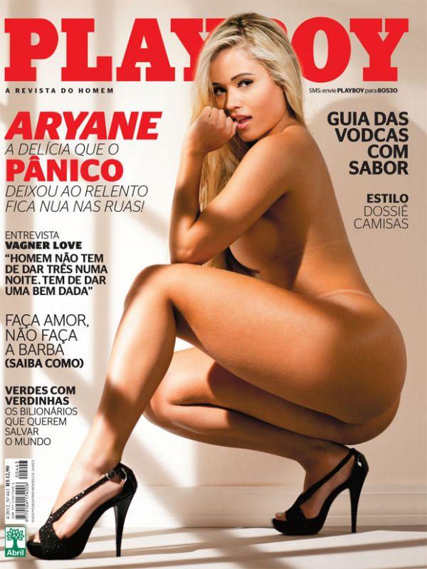A Delícia que o Pânico expulsou: Playboy divulga capa com ensaio nu de Aryane Steinkopf