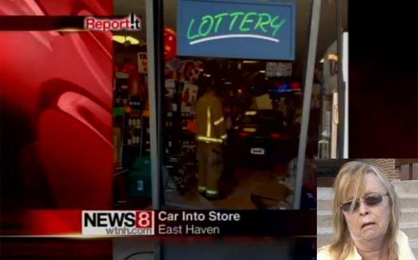 Motorista bêbada se atrapalha ao volante e invade loja de bebidas