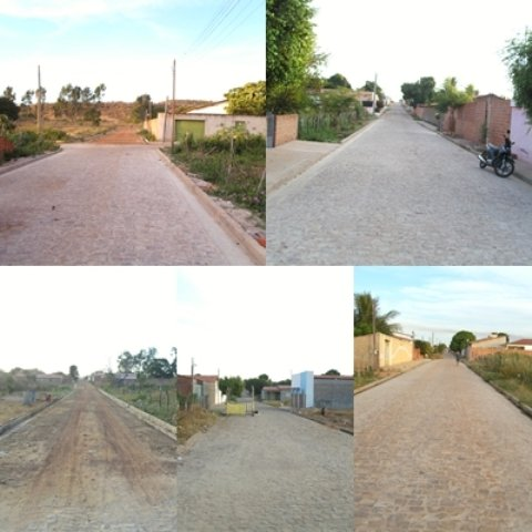 Prefeitura de Canto do Buriti esta construindo mais onze mil metros de calçamento.