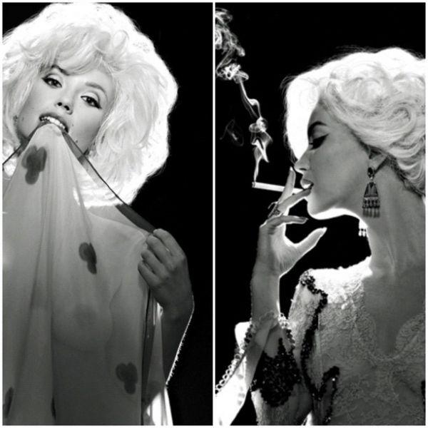 Juliana Didone encarna Marilyn Monroe e mostra seios em revista