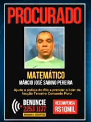 Traficante Matemático morre durante ação em favela do Rio