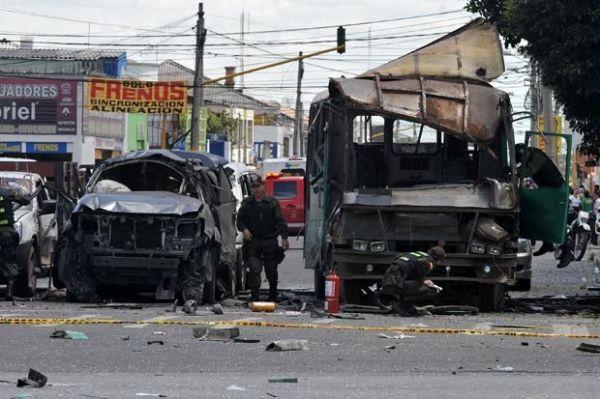 Número de mortos em atentado na capital da Colômbia chega a 5