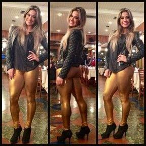 Mesmo de calça, ex-BBB Mayra Cardi exibe pernas torneadas no Rio