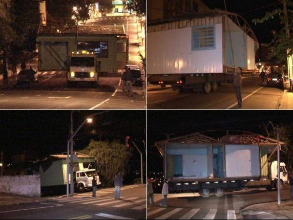 Moradores mudam de endereço e levam casas em caminhões