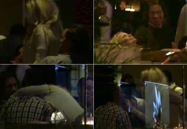 Pamela Anderson é flagrada dançando de forma sensual para um grupo de homens