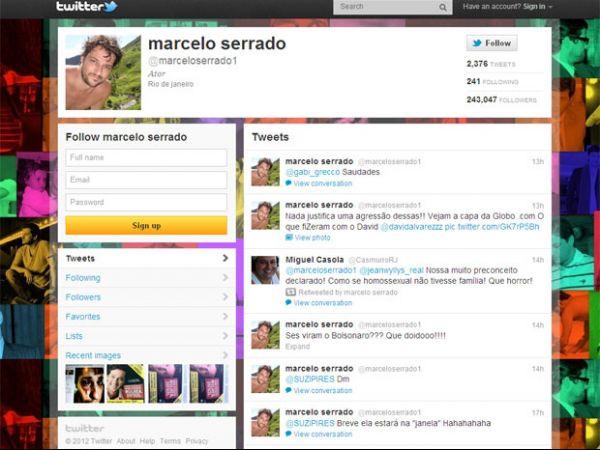 Pelo Twitter, Marcelo Serrado diz que nada justifica agressão em boate