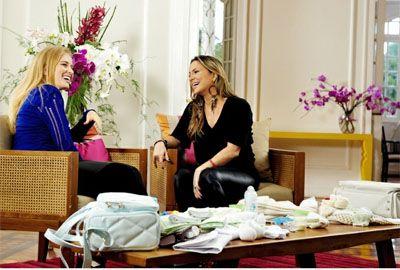 Claudia Leitte revela a Angélica que está grávida de um menino