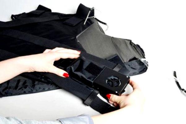 Colete com ar-condicionado é projetado para eliminar o calor