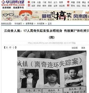 China prende homem que matava e negociava carne das vítimas
