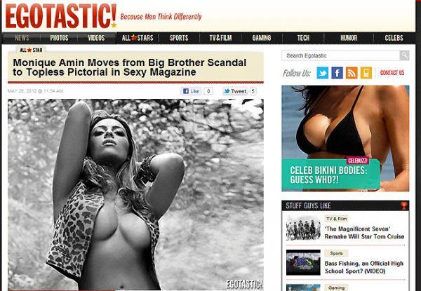 Monique Amin: Ensaio nu é repercutido em site americano