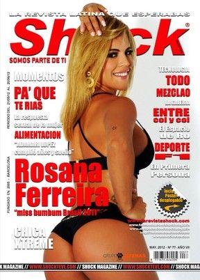 Rosana Ferreira, Miss Bumbum, posa para revista espanhola