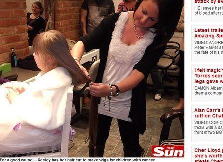 Menina de 5 anos com Down corta o cabelão e dá a crianças com câncer