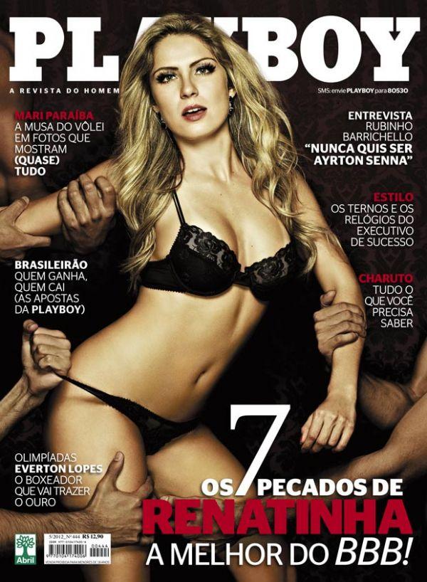 Sete pecados de Renatinha: Ex-BBB é agarrada por vários homens na capa da Playboy