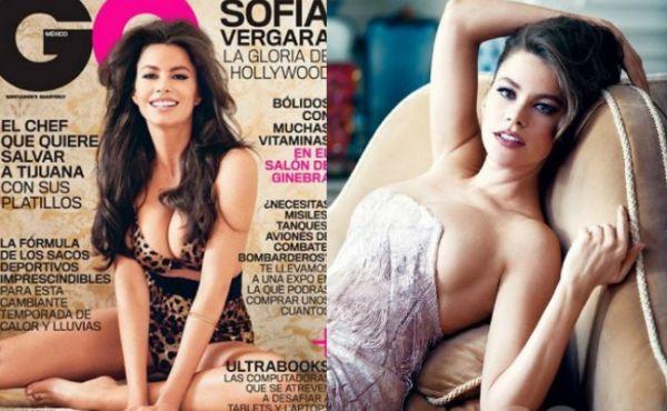Sofía Vergara posa mostrando os seios para revista mexicana