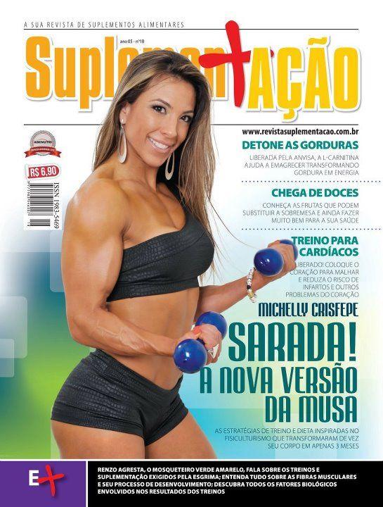 Ex-BBB Michelly aparece supermusculosa em capa de revista