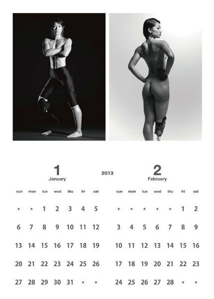 Atleta paraolímpica japonesa posa nua em calendário para bancar treinos