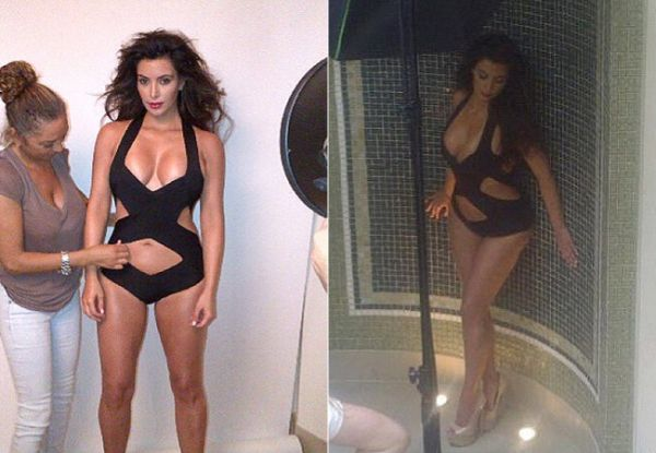 Kim Kardashian mostra curvas arrasadoras para revista masculina