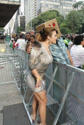Geisy Arruda vai à Parada Gay em São Paulo: