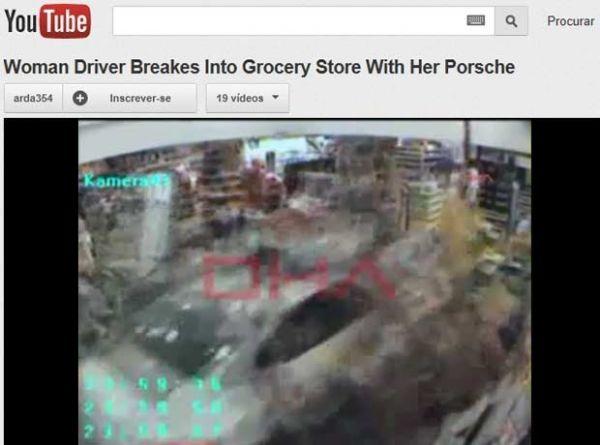 Motorista de Porsche destrói loja de conveniência de posto na Turquia