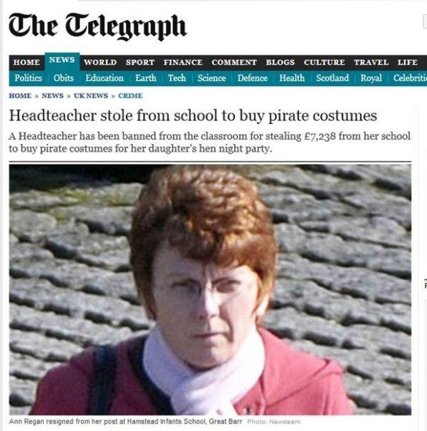 Professora rouba dinheiro de alunos para comprar fantasia