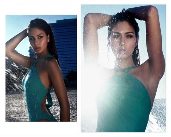 Filha de Bebeto posa de biquíni para editorial na praia; veja as fotos