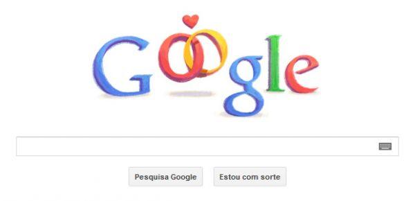 Google comemora o dia dos namorados com Doodle