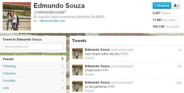 Edmundo ofende Luxemburgo no Twitter