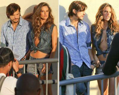 Hot: Alessandra Ambrosio e Ashton Kutcher posam juntos na Califórnia