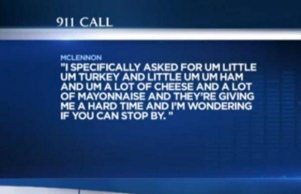 Polícia é acionada, após homem não gostar de um sanduíche