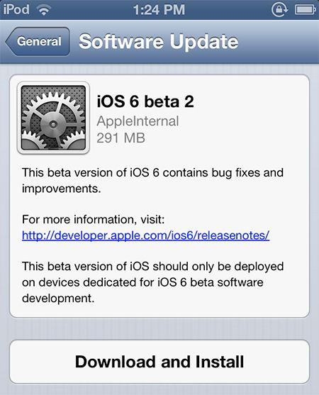 Apple lança nova versão de testes do iOS 6 para iPhone