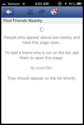 Facebook tira do ar a função de achar amigos próximos