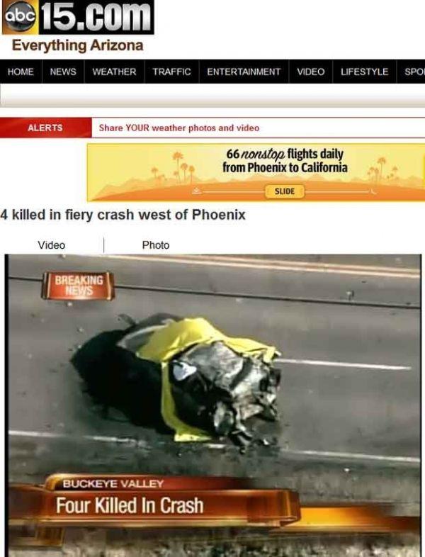 Carro bate, pega fogo e quatro pessoas morrem nos EUA