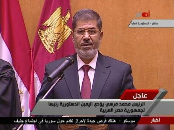 Mohamed Mursi presta juramento como novo presidente egípcio