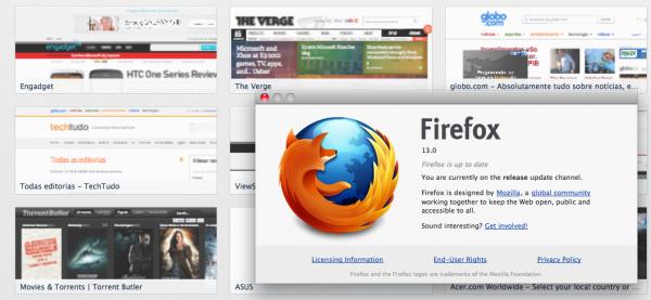 Mozilla lança Firefox 13 com página inicial totalmente redesenhada