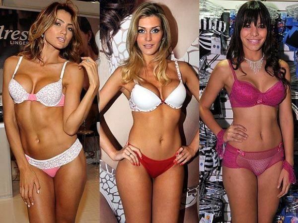 Modelos exibem lingeries nos corredores do Salão Moda Brasil