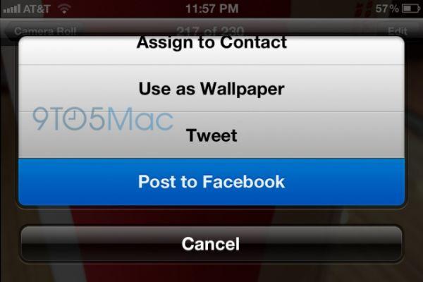Possível integração do Facebook no iOS 6 terá â??curtirâ?? em aplicativos