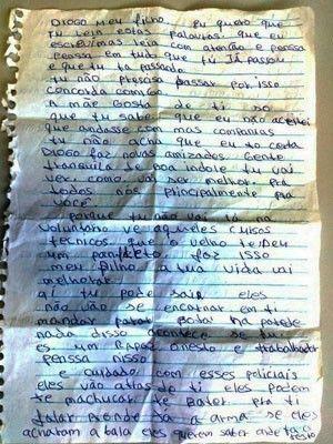 Suspeito é preso no RS com carta da mãe pedindo que filho largue o crime