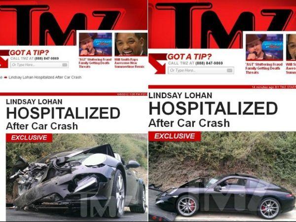 Lindsay Lohan sofre acidente de carro e é hospitalizada, diz site
