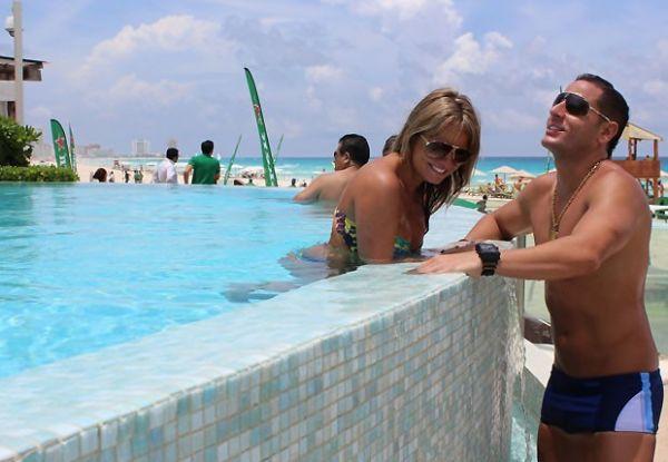 Lembram dela? Ex-BBB Tathy Rio curte Cancún com o namorado