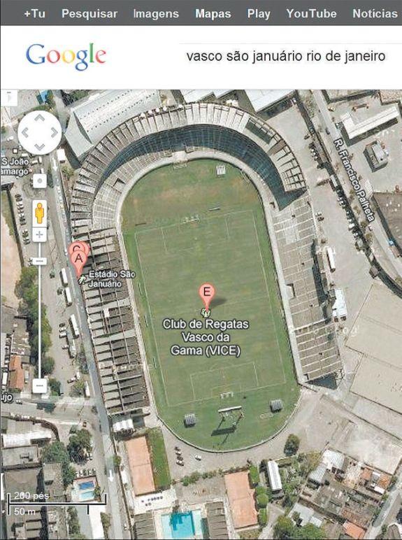 Sede do Vasco ganha complemento da palavra vice no Google Maps