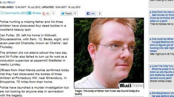 Pai mata os filhos a facadas e se joga de penhasco na Inglaterra