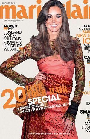 Photoshop coloca duquesa Catherine em capa de revista