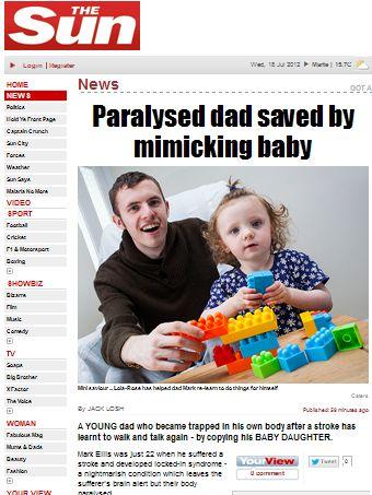 Após derrame, homem volta a falar e a andar imitando a filha ainda bebê