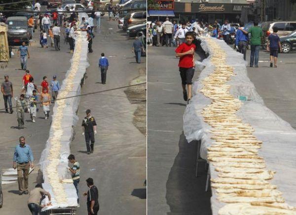 Líbano faz sanduíche de 167 metros